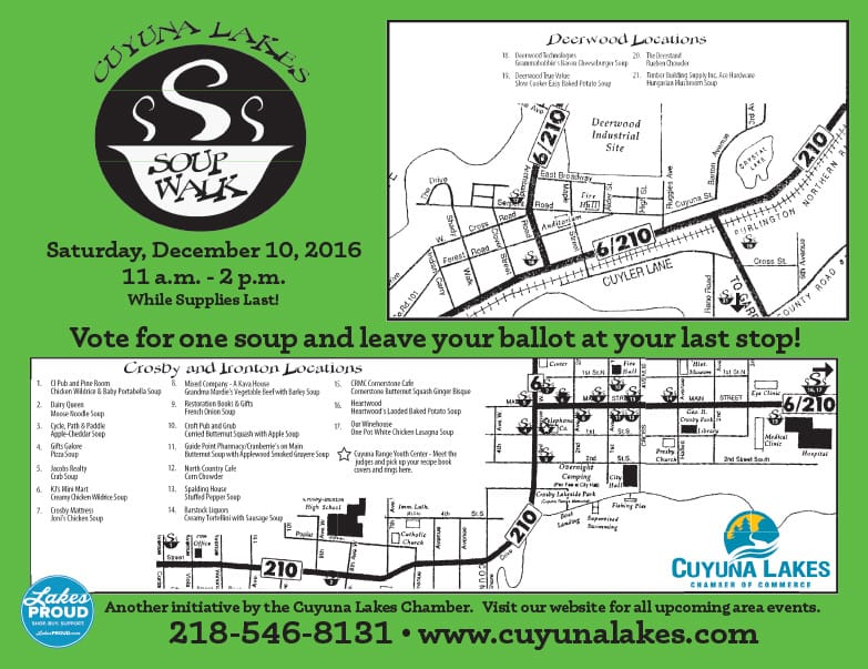 Cuyuna Lakes Soup Walk We-Prints Plus Newspaper Insert by Any Door Marketing