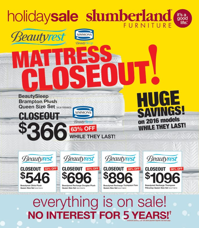 Slumberland Furniture We-Prints Plus Newspaper Insert by Any Door Marketing