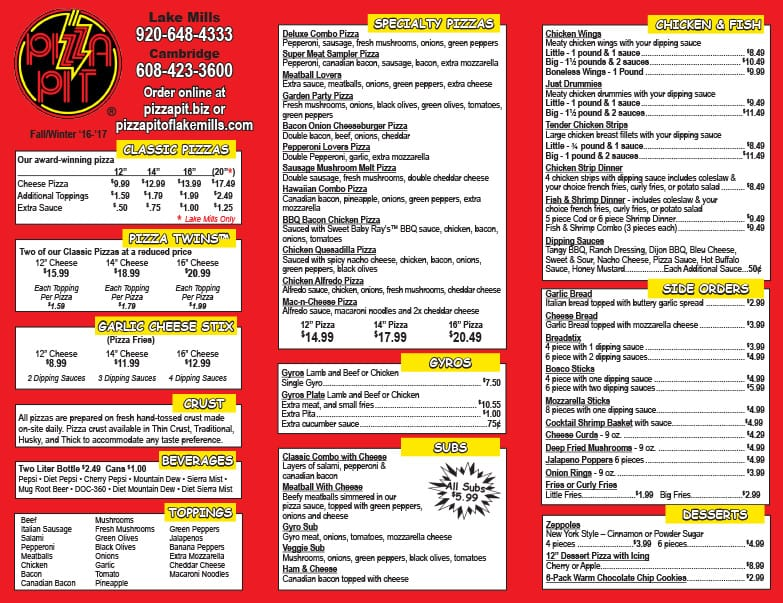 Pizza Pit We-Prints Plus Newspaper Insert by Any Door Marketing