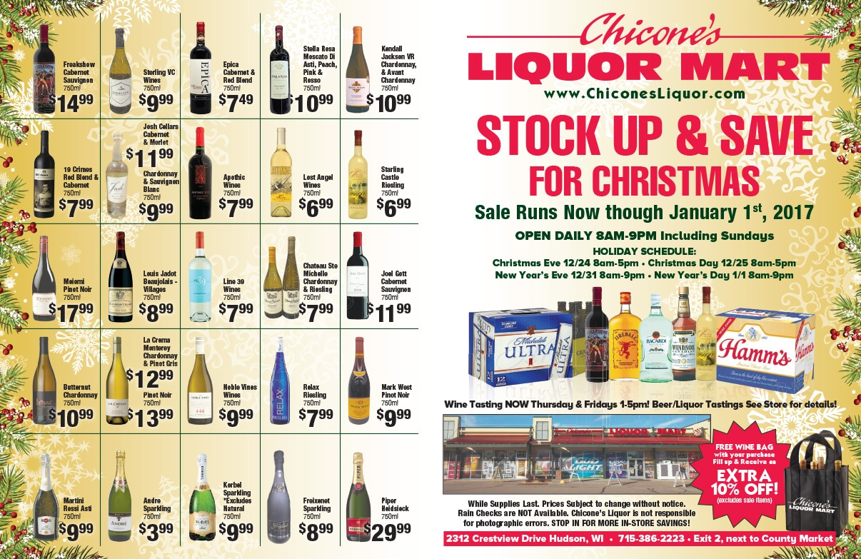 Chicone's Liquor Mart 4-Page We-Prints Plus Newspaper Insert by Any Door Marketing