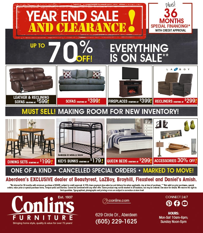 Conlin's Furniture JUMBO We-Prints Plus Newspaper Insert by Any Door Marketing