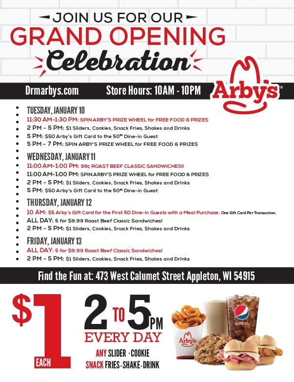 Arby's We-Prints Plus Newspaper Insert by Any Door Marketing