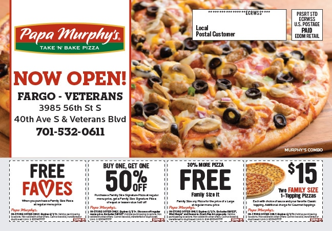 Papa Murphy's Pizza Any Door Direct Mail Piece by Any Door Marketing