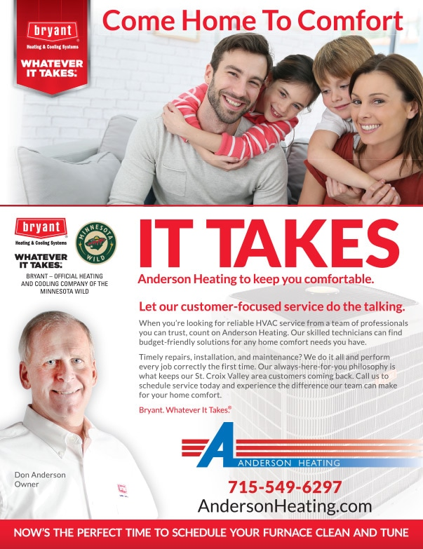 Anderson Heating We-Prints Plus Newspaper Insert by Any Door Marketing