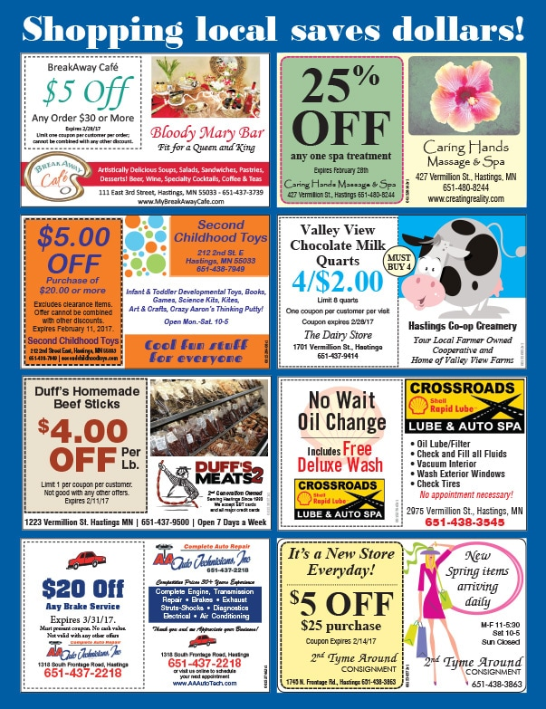 Hastings Shop Local We-Prints Plus Newspaper Insert by Any Door Marketing