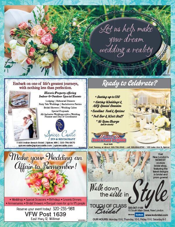 Touch of Class Bridal We-Prints Plus Newspaper Insert by Any Door Marketing