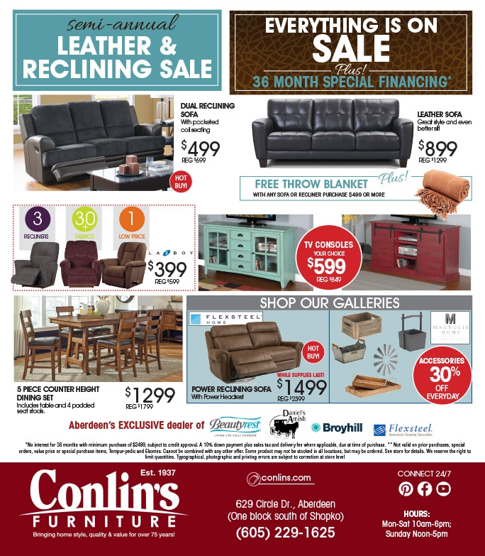 Conlin's Furniture We-Prints Plus JUMBO newspaper insert by Any Door Marketing