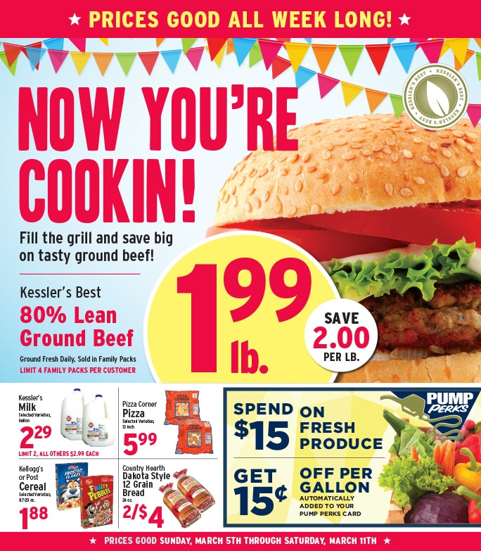 Kesslers Grocery We-Prints Plus newspaper insert by Any Door Marketing