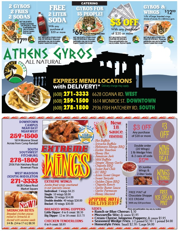 Athens Gyros We-Prints Plus newspaper insert by Any Door Marketing