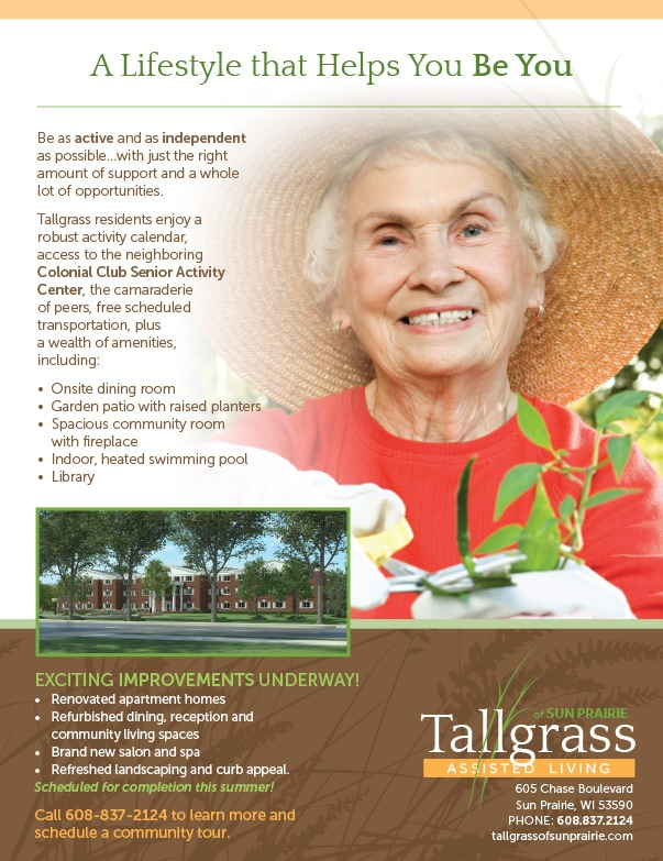 Tallgrass Assisted Living We-Prints Plus newspaper insert by Any Door Marketing