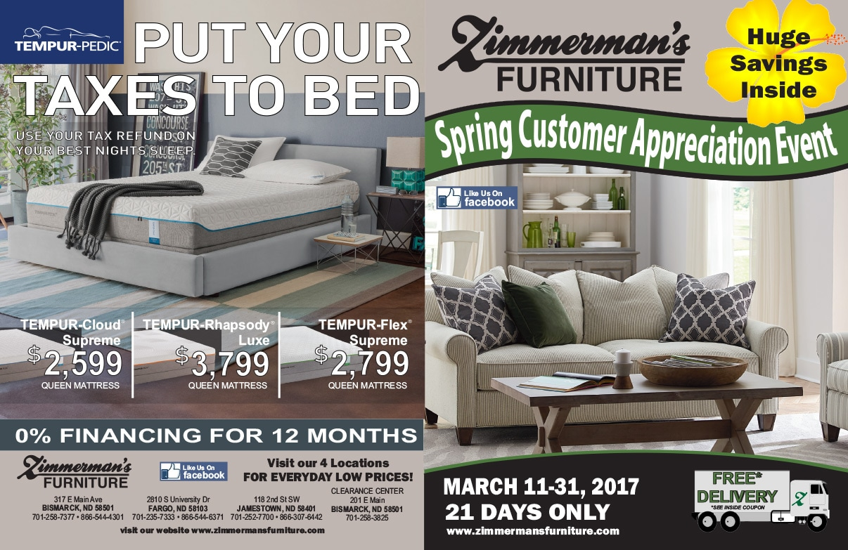 Zimmerman's Furniture We-Prints Plus newspaper insert by Any Door Marketing