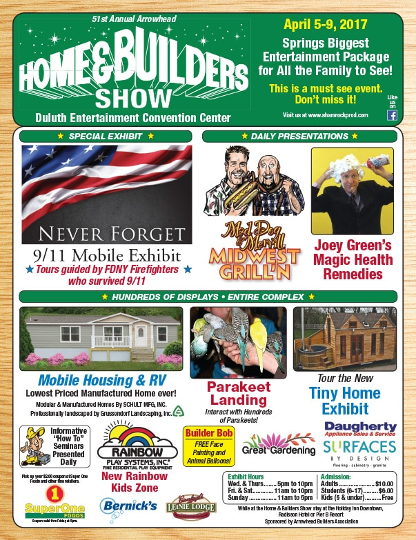Duluth Home & Builders Show We-Prints plus Newspaper Insert by Any Door Marketing
