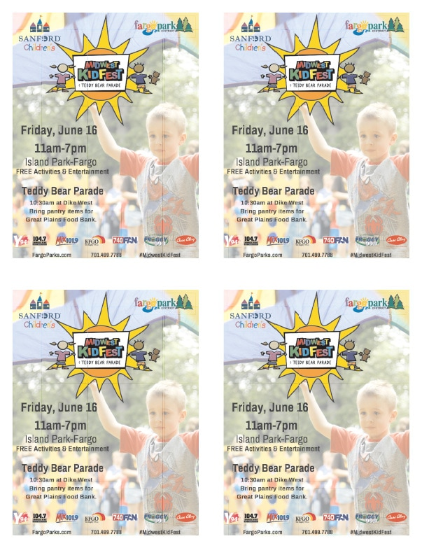 Papa Murphy's Midwest Kid Fest We-Prints Plus Newspaper Insert by Any Door Marketing
