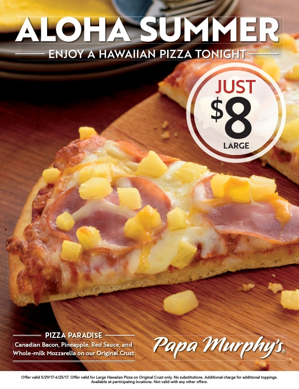Papa Murphy's Pizza We-Prints Plus Newspaper Inserts by Any Door Marketing