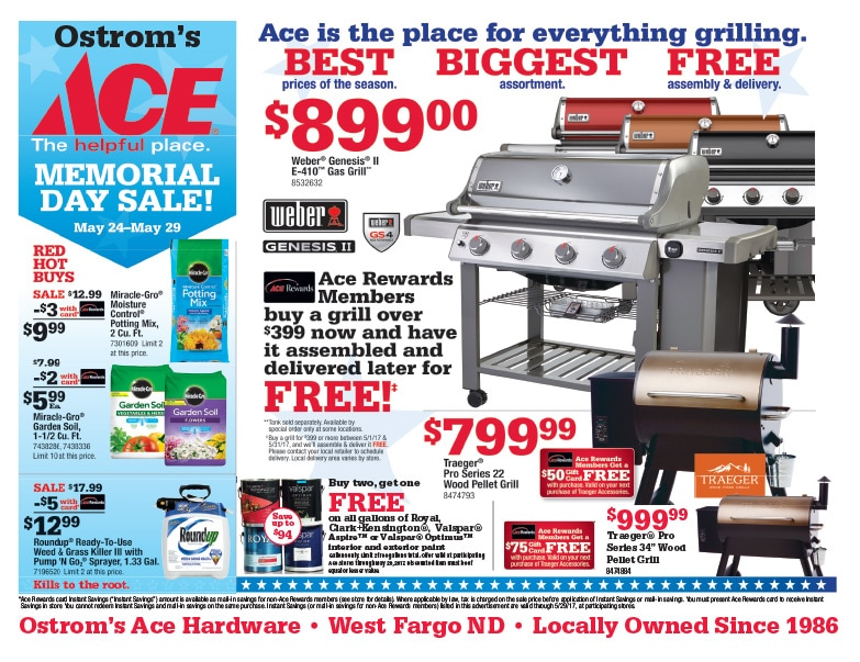 Ostrom's Ace Hardware We-Prints Plus Newspaper Insert by Any Door Marketing