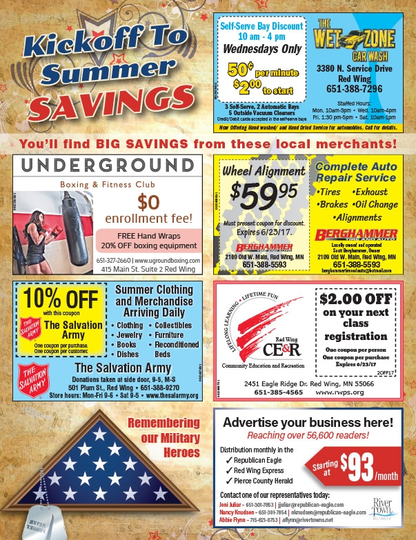 Red Wing MN Shop Local We-Prints Plus Newspaper Insert by Any Door Marketing