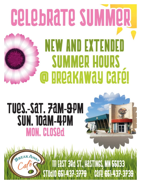 Break Away Café We-Prints Plus Newspaper Inserts by Any Door Marketing
