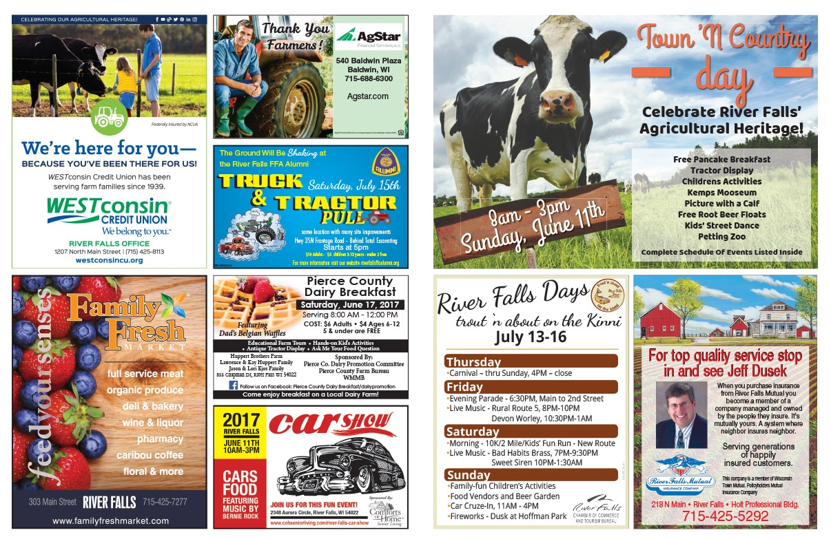 River Falls Days We-Prints Plus Newspaper Insert by Any Door Marketing