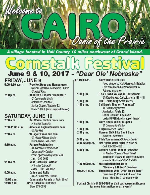 Cairo Cornstalk Festival We-Prints Plus Newspaper Insert by Any Door Marketing