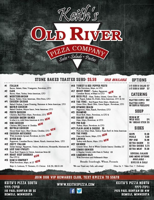 Keith's Old River Pizza Company We-Prints Plus Newspaper Inserts by Any Door Marketing