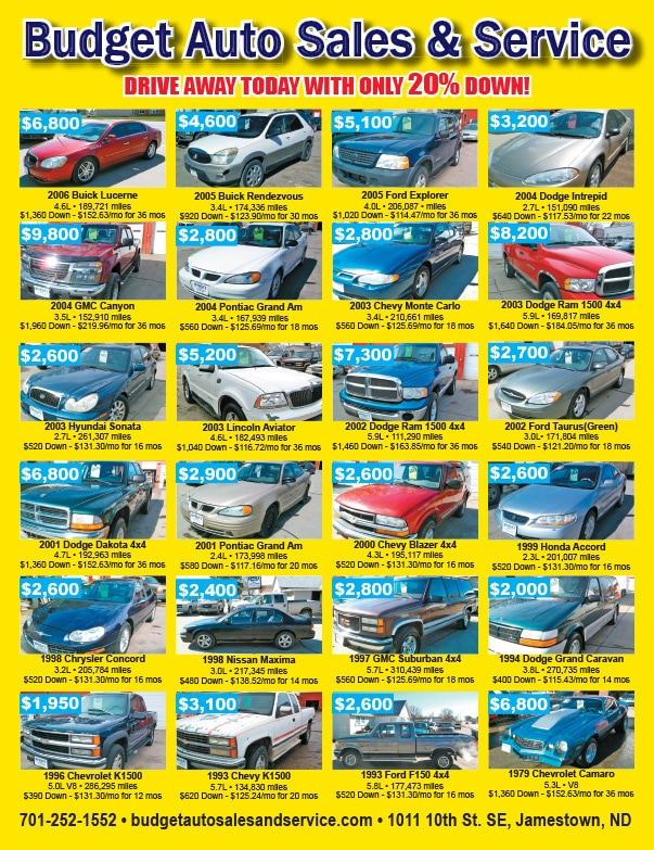 Budget Auto Sales We-Prints Plus Newspaper Inserts by Any Door Marketing
