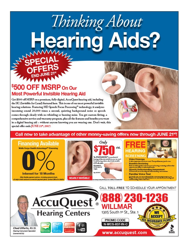 AccuQuest Hearing Centers We-Prints Plus Newspaper Insert by Any Door Marketing