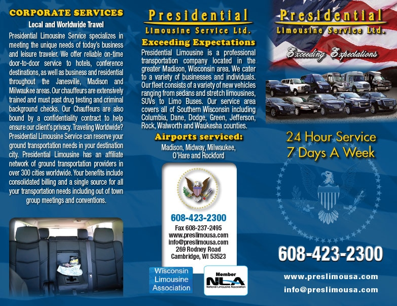 Presidential Limousine Service Ltd We-Prints Plus Newspaper Insert by Any Door Marketing