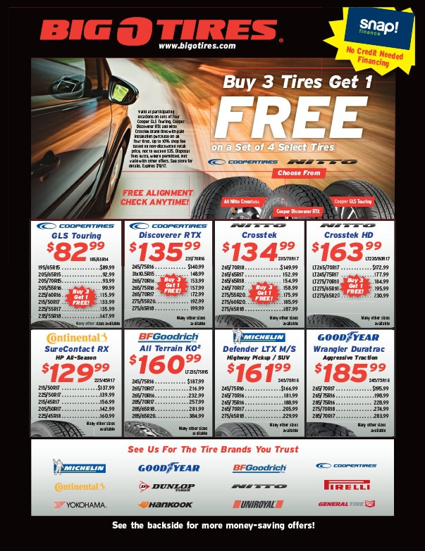 Big O Tires We-Prints Plus Newspaper Insert by Any Door Marketing