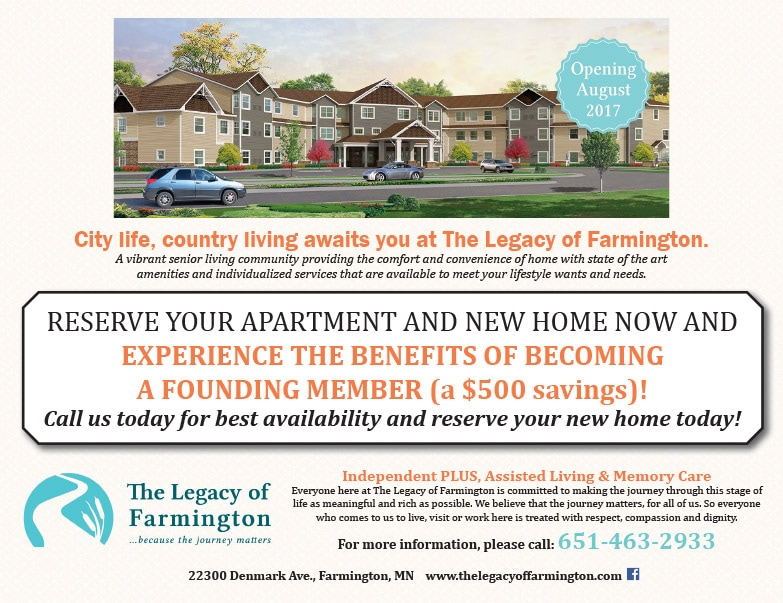 The Legacy of Farmington We-Prints Plus Newspaper Insert by Any Door Marketing