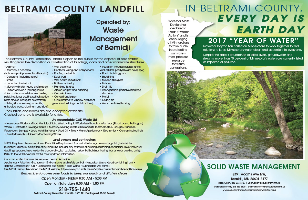 Beltrami County Landfill We-Prints Plus Newspaper Insert by Any Door Marketing