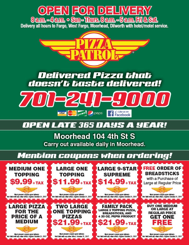 Pizza Patrol We-Prints Plus Newspaper Insert by Any Door Marketing