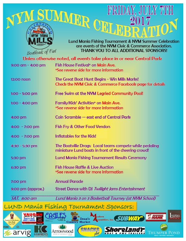 New York Mills Summer Celebration We-Prints Plus Newspaper Insert by Any Door Marketing