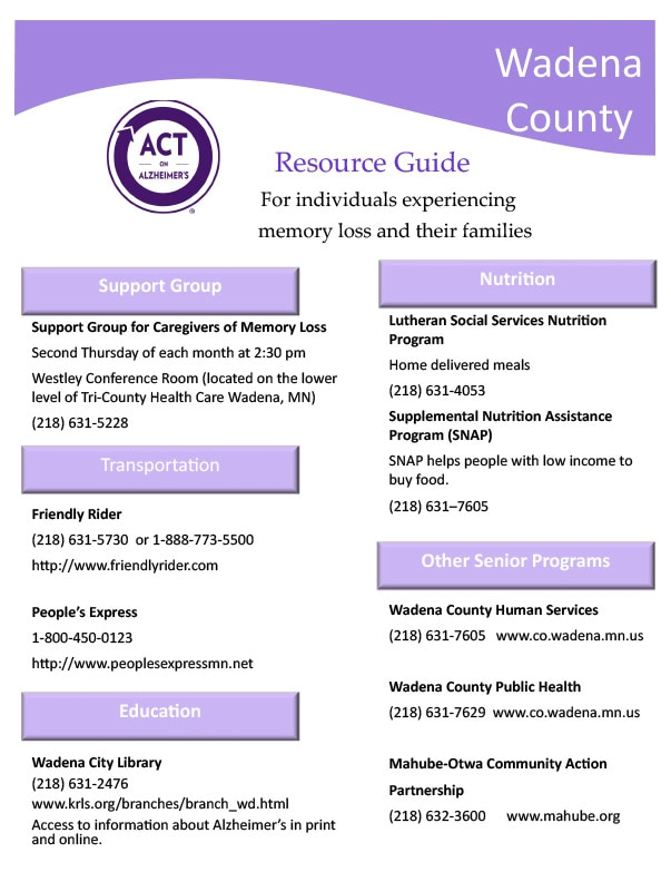 Wadena County Community Guide We-Prints Plus Newspaper Insert by Any Door Marketing