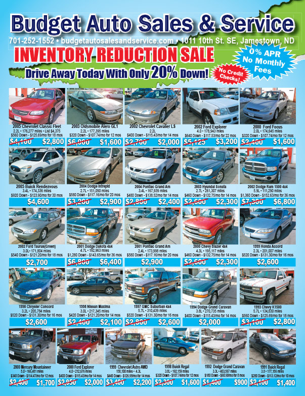 Budget Auto Sales We-Prints Plus Newspaper Insert by Any Door Marketing