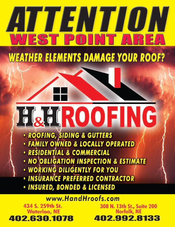 H&H Roofing We-Prints Plus Newspaper Inserts by Any Door Marketing
