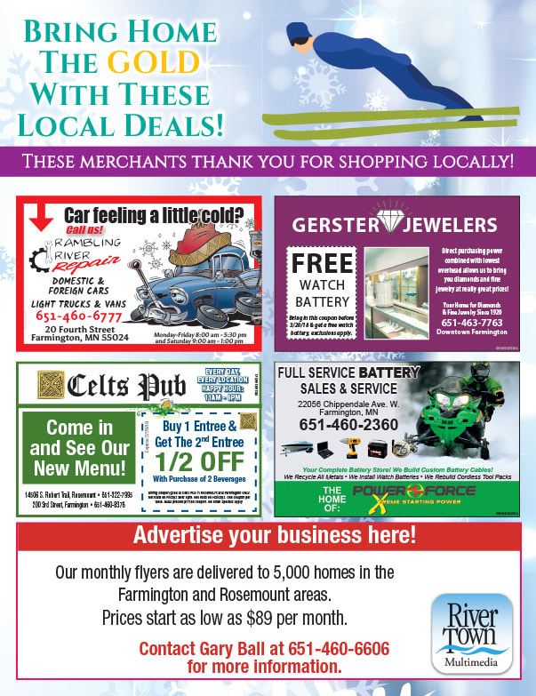 Farmington MN Shop Local We-Prints Plus Newspaper Insert brought to you by Any Door Marketing
