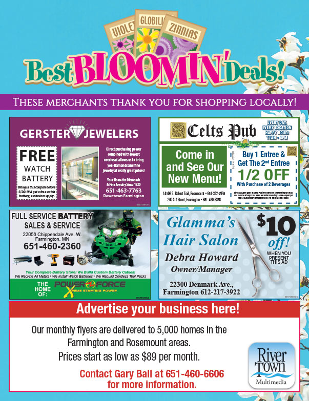 Farmington Shop Local We-Prints Plus Newspaper Insert brought to you by Any Door Marketing