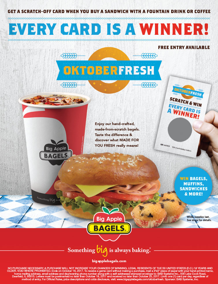 Big Apple Bagels We-Prints Plus Newspaper Insert by Any Door Marketing