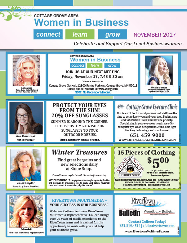 Cottage Grove Women in Business We-Prints Plus Newspaper Insert by Any Door Marketing