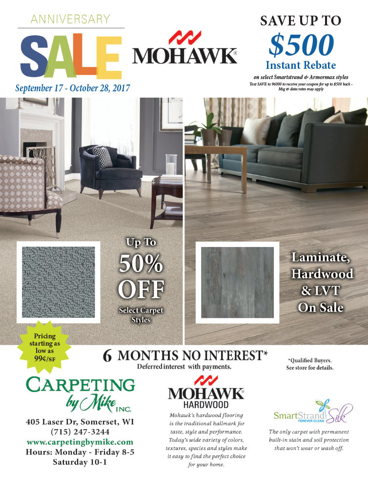 Carpeting by Mike We-Prints Plus Newspaper Insert by Any Door Marketing