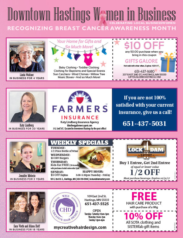 Hastings Women in Business We-Prints Plus Newspaper Insert by Any Door Marketing
