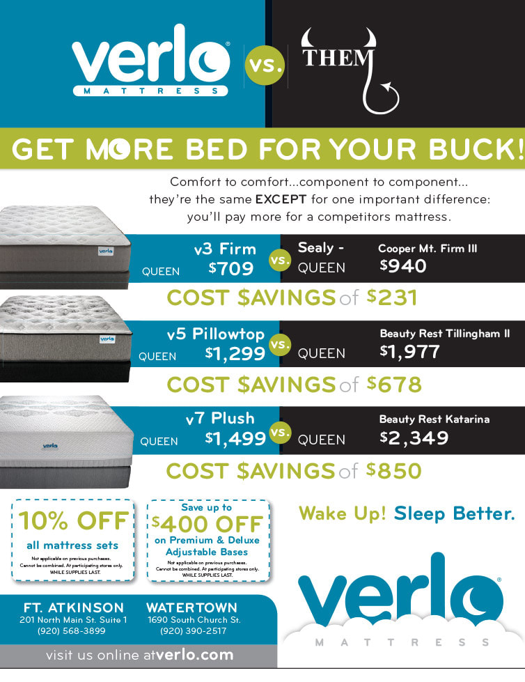 Verlo Mattress We-Prints Plus Newspaper Insert by Any Door Marketing