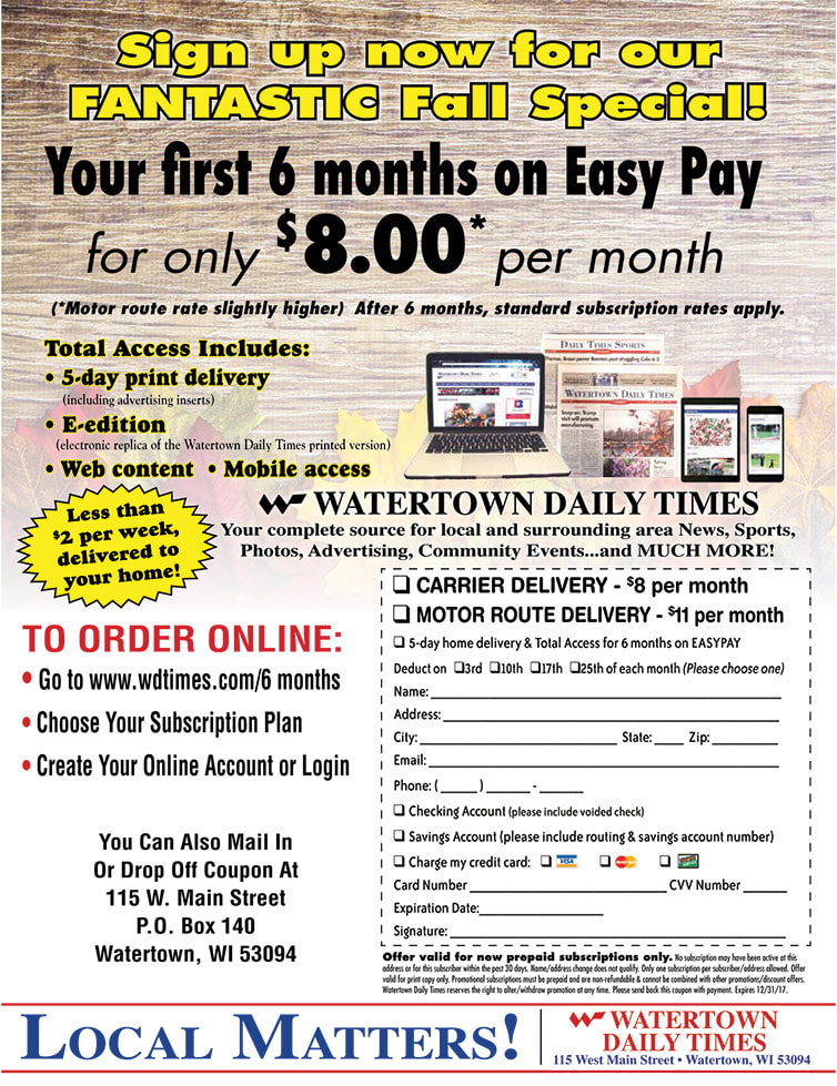Watertown Daily Times We-Prints Plus Newspaper Insert by Any Door Marketing