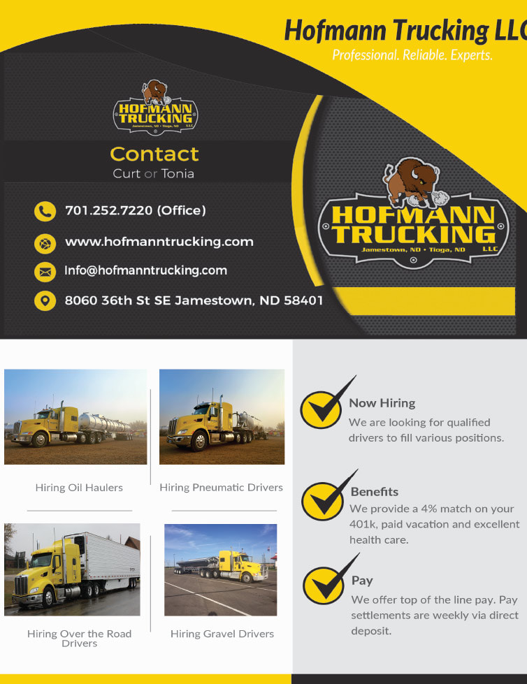 Hoffmann Trucking We-Prints Plus Newspaper Insert by Any Door Marketing
