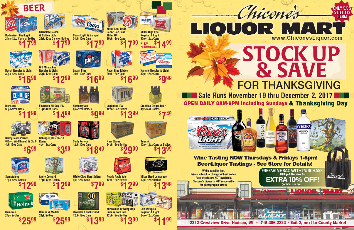 Chicone's Liquor Mart We-Prints Plus Newspaper Insert by Any Door Marketing
