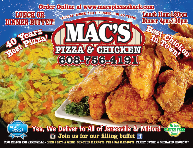 Mac's Pizza and Chicken We-Prints Plus Newspaper Insert by Any Door Marketing