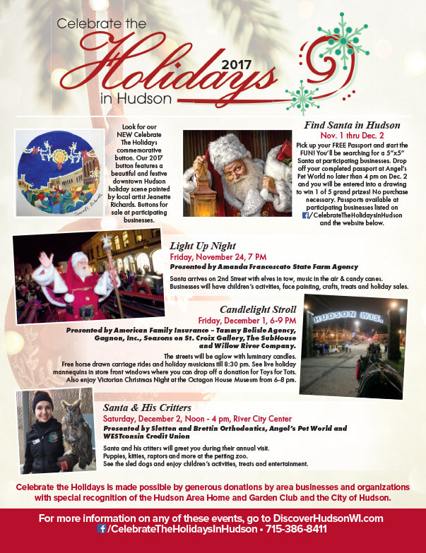 Holidays In Hudson We-Prints Plus Newspaper Insert by Any Door Marketing