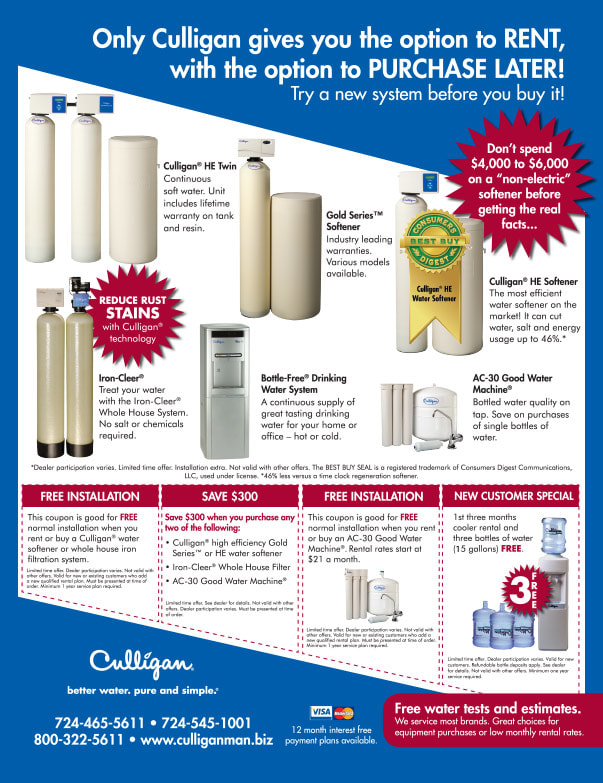 Culligan We-Prints Plus Newspaper Insert printed by Any Door Marketing