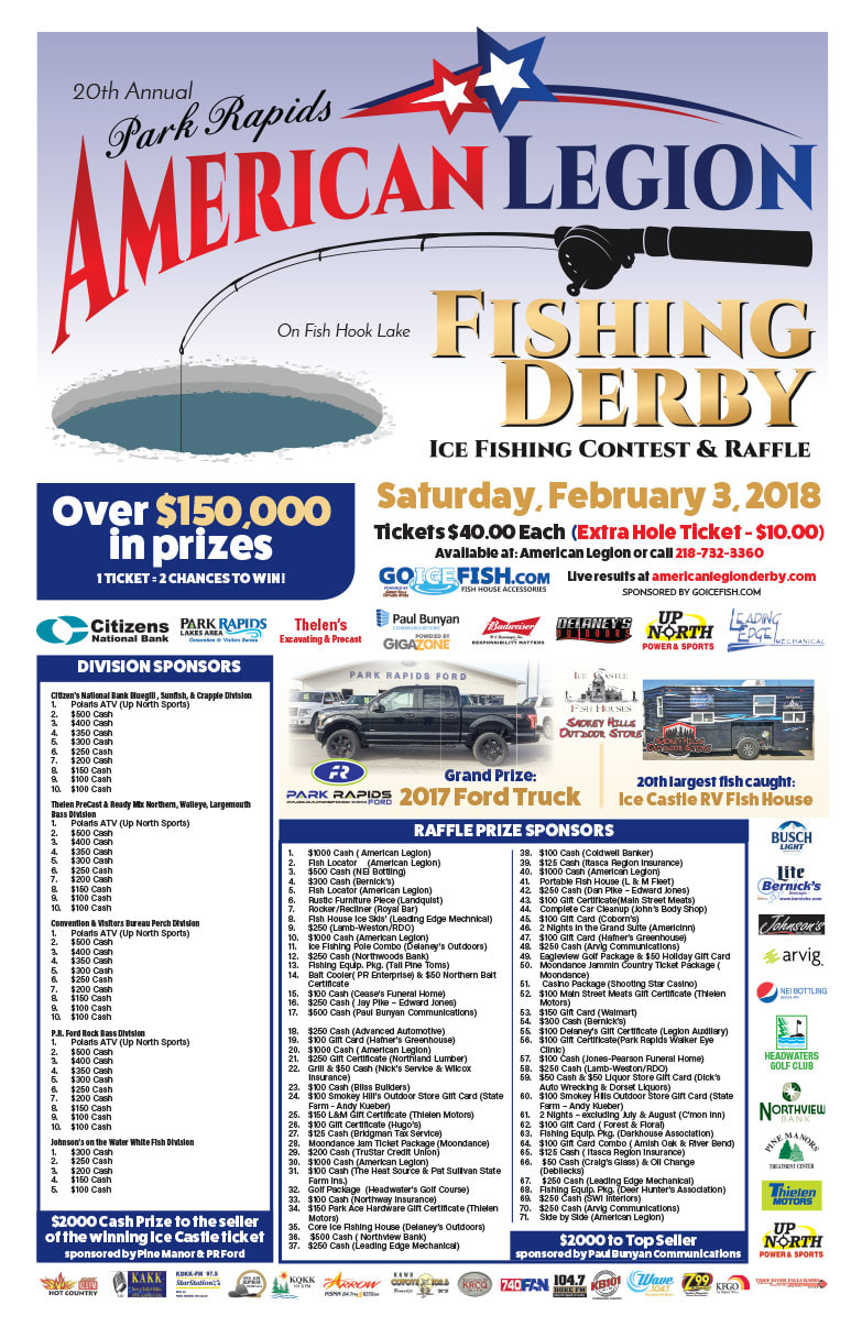 Park Rapids American Legion Fishing Derby We-Prints Plus Newspaper Insert printed by Any Door Marketing