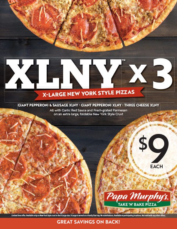 Papa Murphy's Pizza We-Prints Plus Newspaper Insert printed by Any Door Marketing